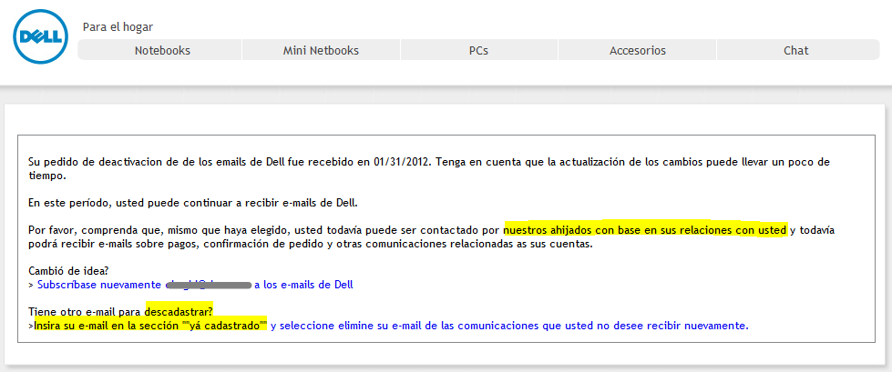 Dell translate fail
